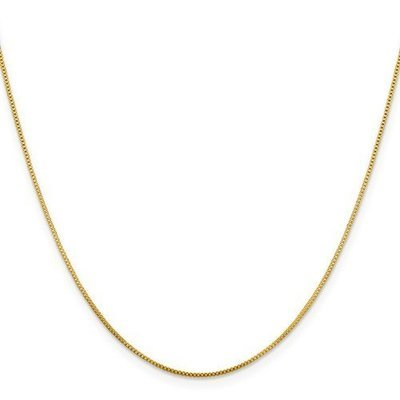 Flash Gold-Plated Sterling Silver .8mm Box Chain