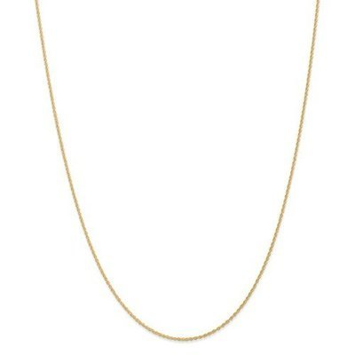 14k Yellow Gold 18in 1.1mm Baby Rope Chain