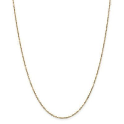14k Yellow Gold 18in 1.4mm Cable Chain