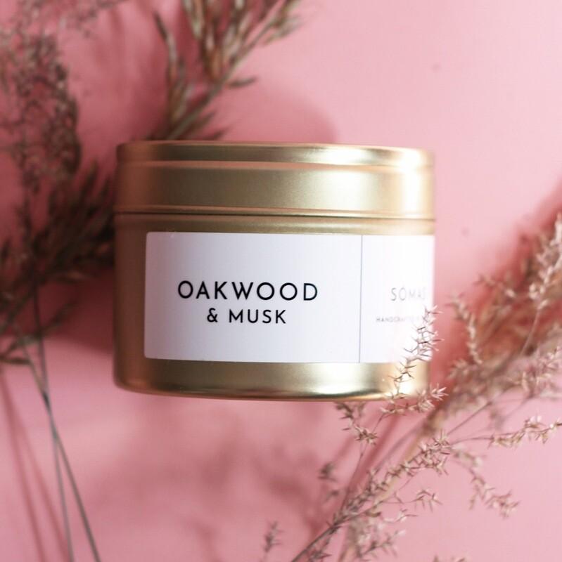 SÓMAS Oakwood & Musk Soy Candle