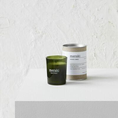 Green Herbal Soy Candle, Meraki