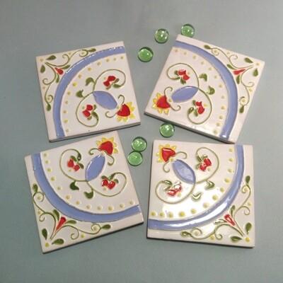 Плитка с русским орнаментом. Для кухни. 100х100х7мм