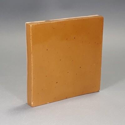 Изразцовая золотистая плитка. Для фасада, кухни, камина, пола. 100х100х14мм