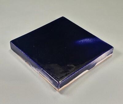 Изразцовая синяя плитка. Для фасада, кухни, камина, пола. 100х100х14мм