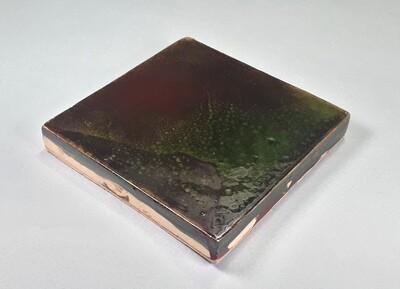 Изразцовая коричневая плитка. Для фасада, кухни, камина, пола. 100х100х14 мм