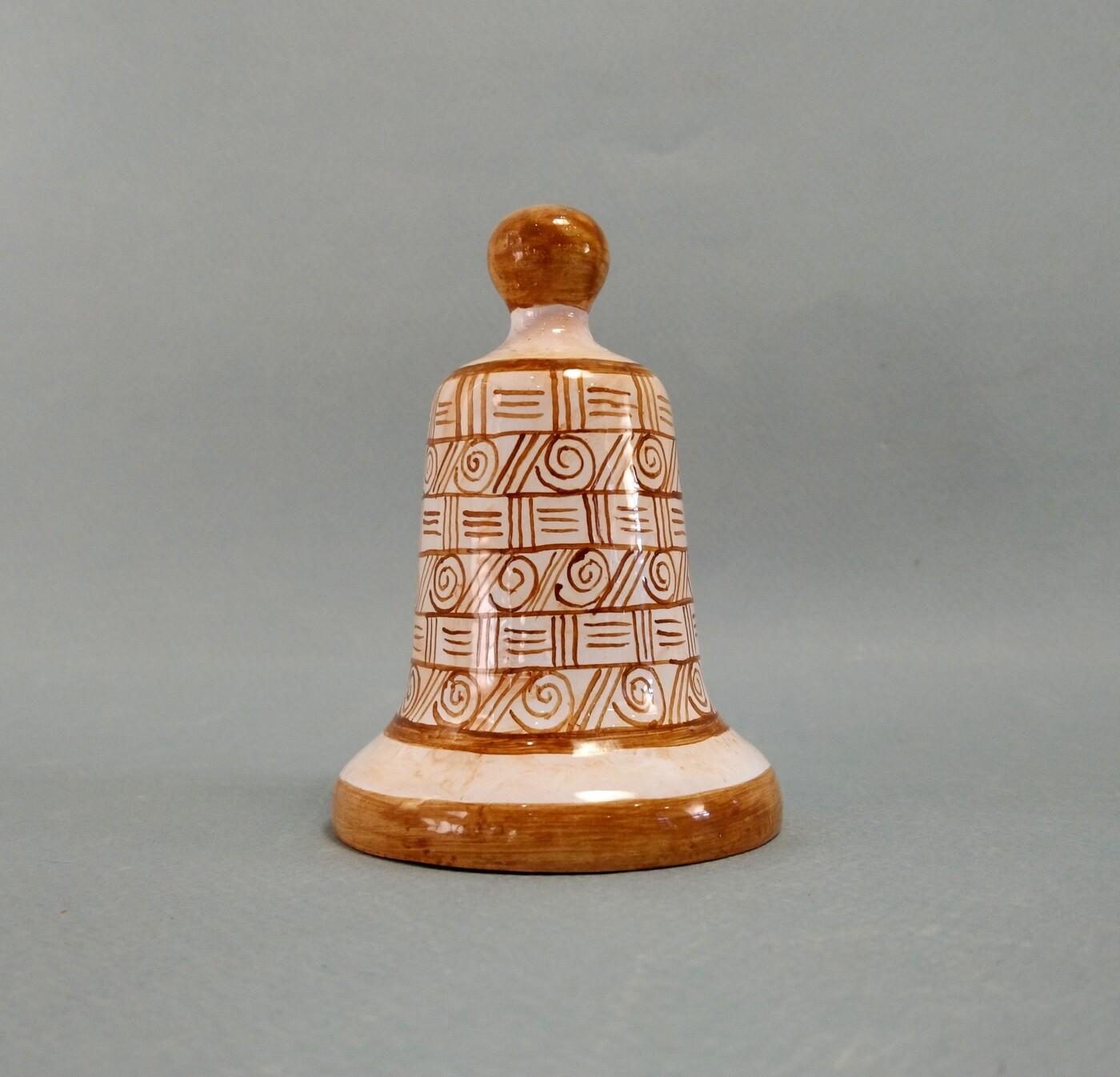 Колокольчик  Керамика (ручная работа). 9,5см.