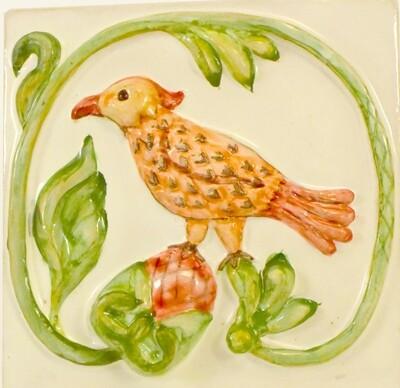Плитка с Русскими птицами. Для кухни. 100х100х7мм