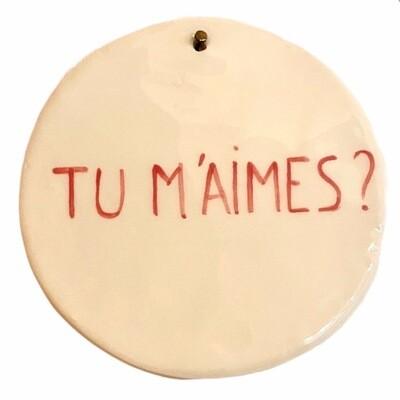 Plaque à message 15 CM - CATHERINE TISSERANT