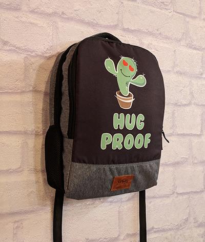 Hug Proof Canvas Backpack