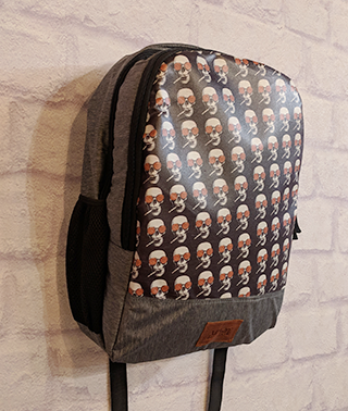 Smoking Skull Backpack