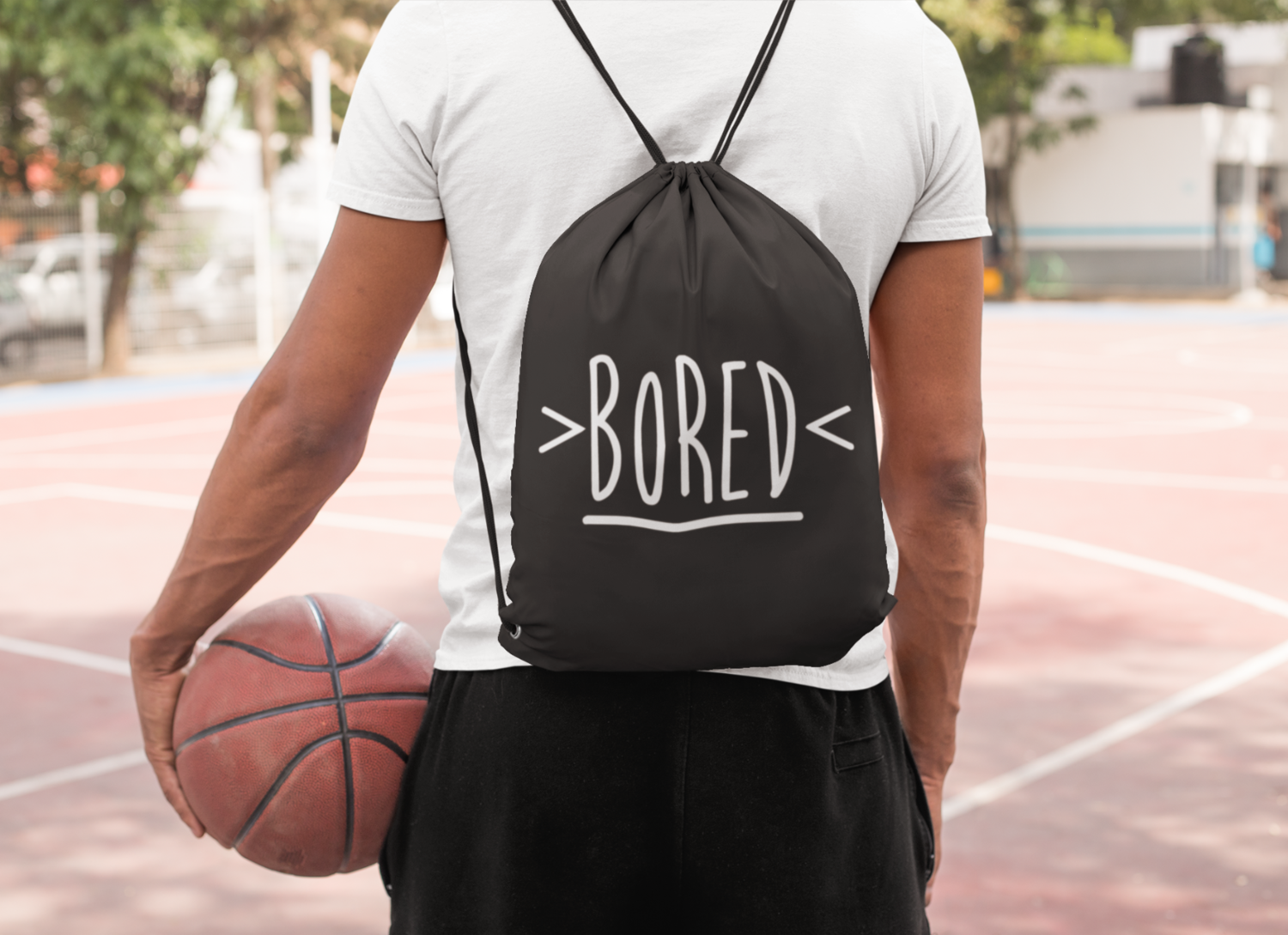 Bored Drawstring Bag