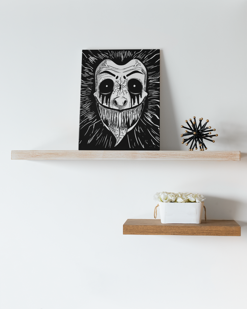 Monochrome Predator Canvas