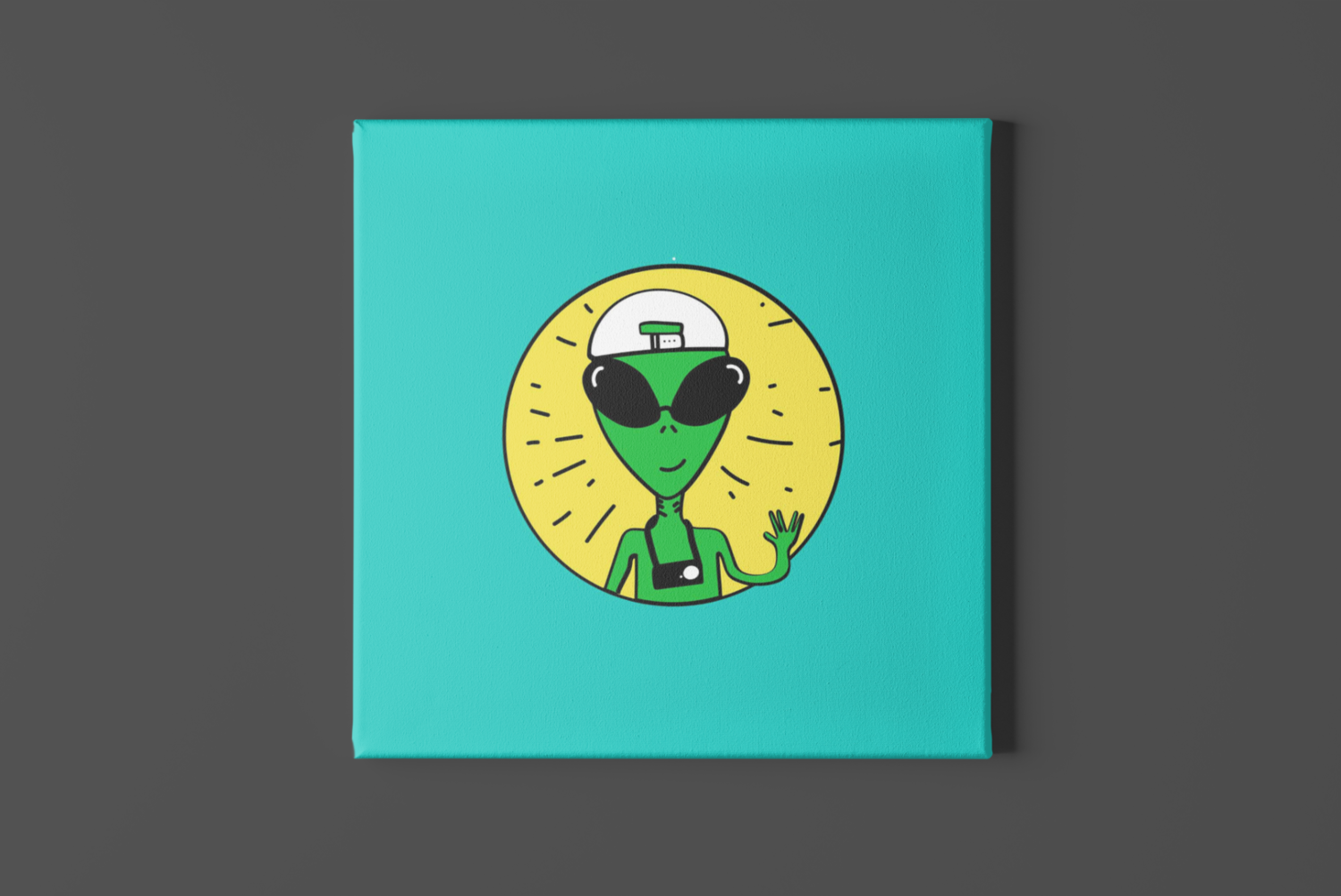 Backpacking Alien Canvas