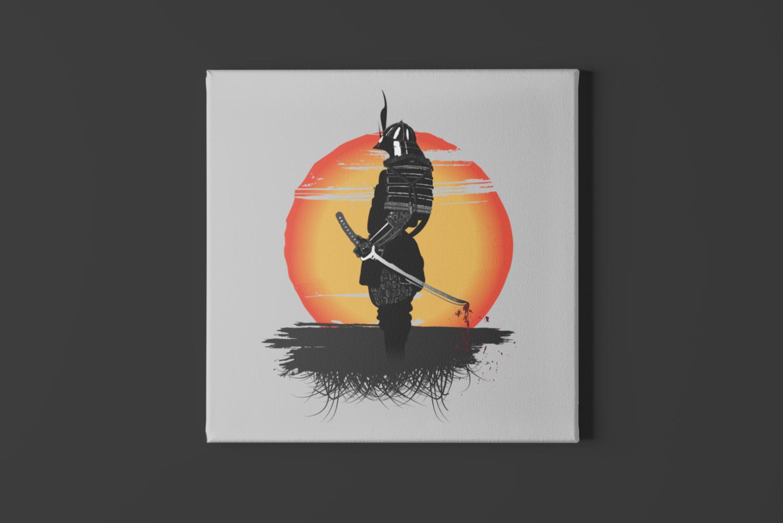Samurai Sun Canvas