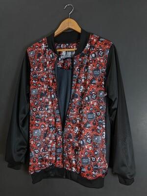 Red Anime Bomber Jacket