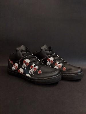 Smoking Skull Printed Shoes