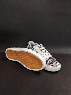 Grey Anime Printed Shoes
