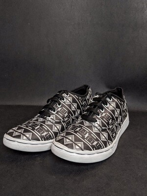 Tribal Black Printed Shoes