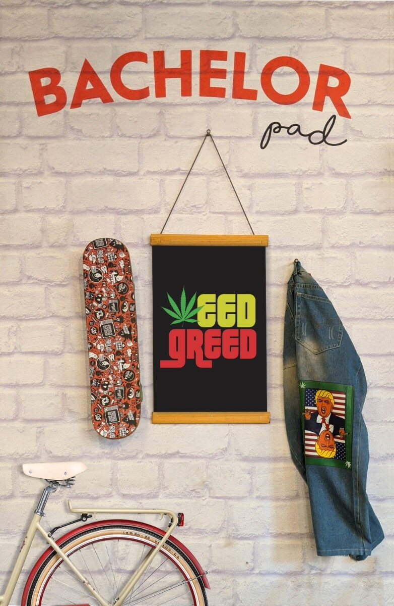 Weed Greed Clip Canvas