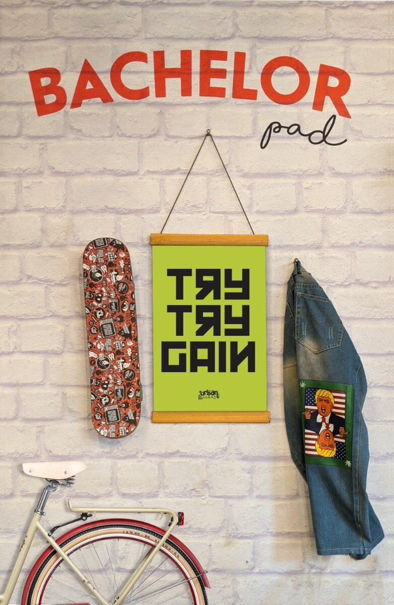 Try Try Gain Clip Canvas