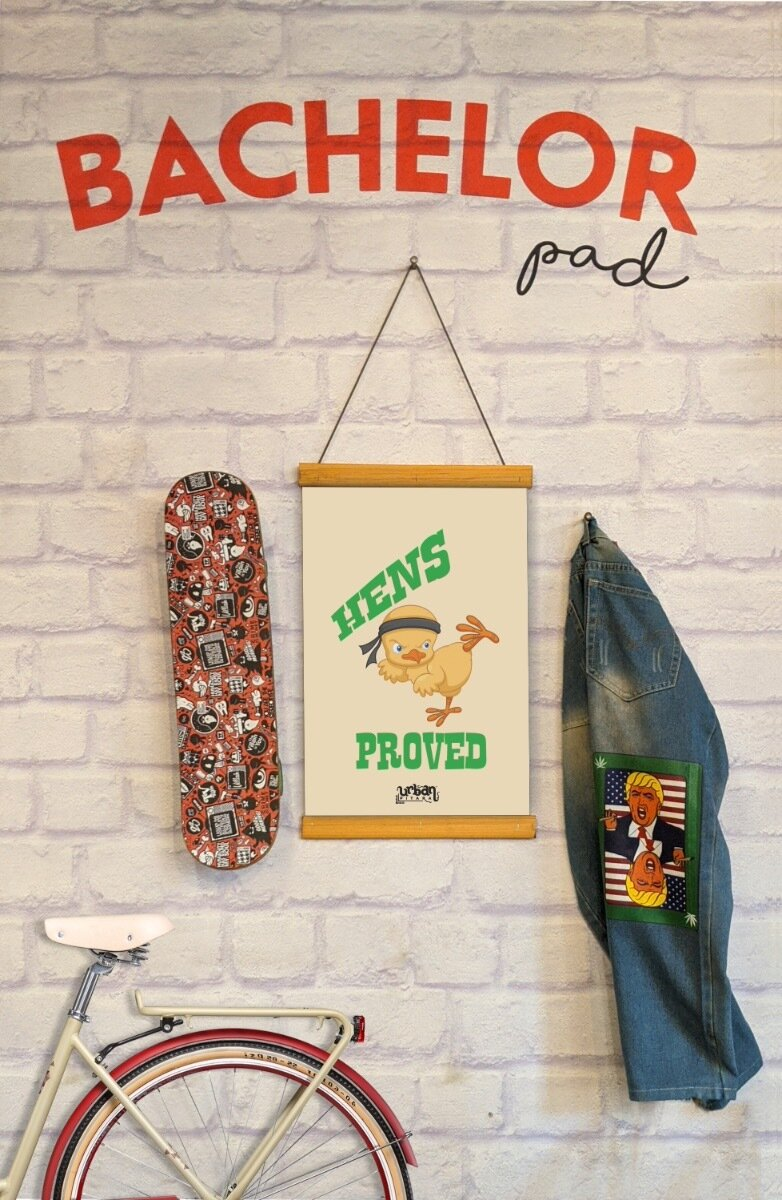 Hens Proved Clip Canvas