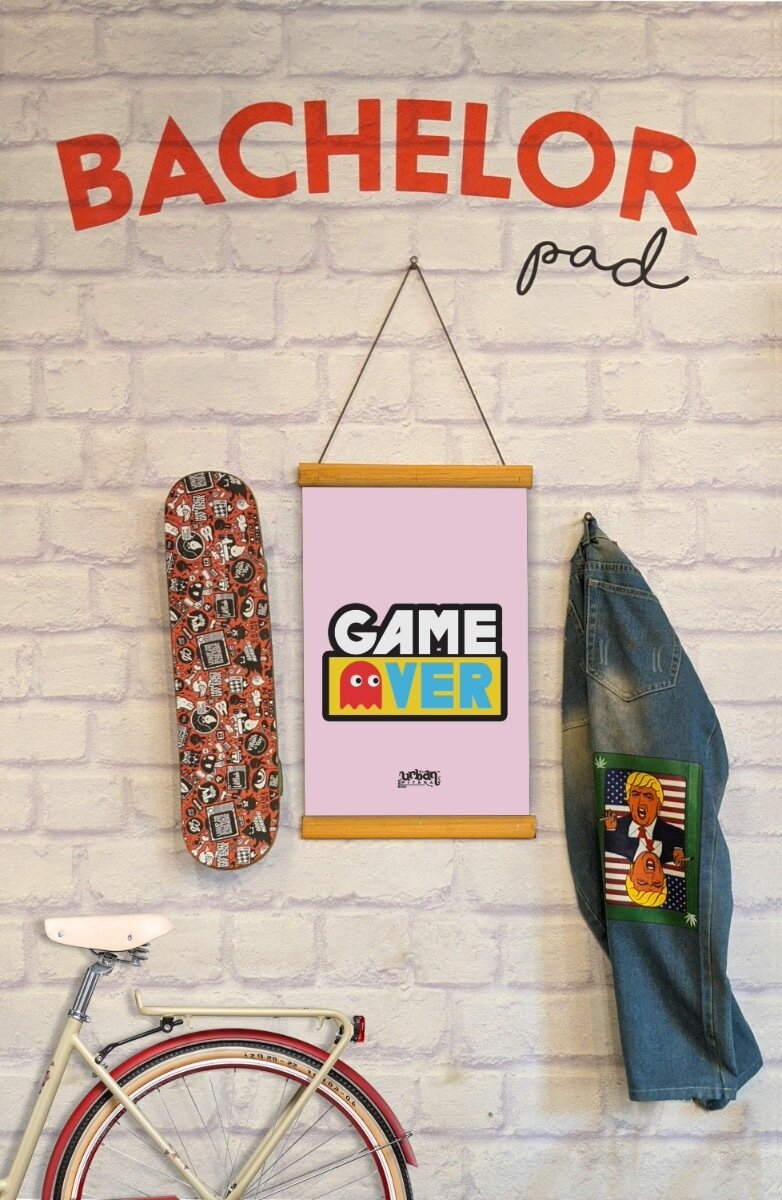 Game Over Clip Canvas