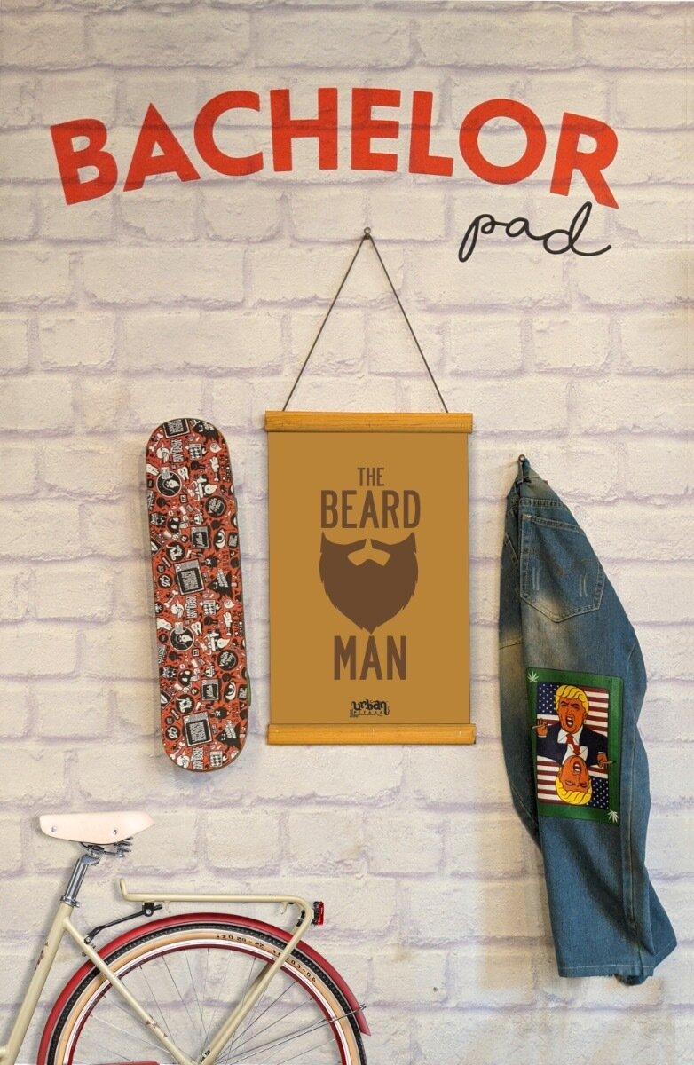 The Beard Man Clip Canvas