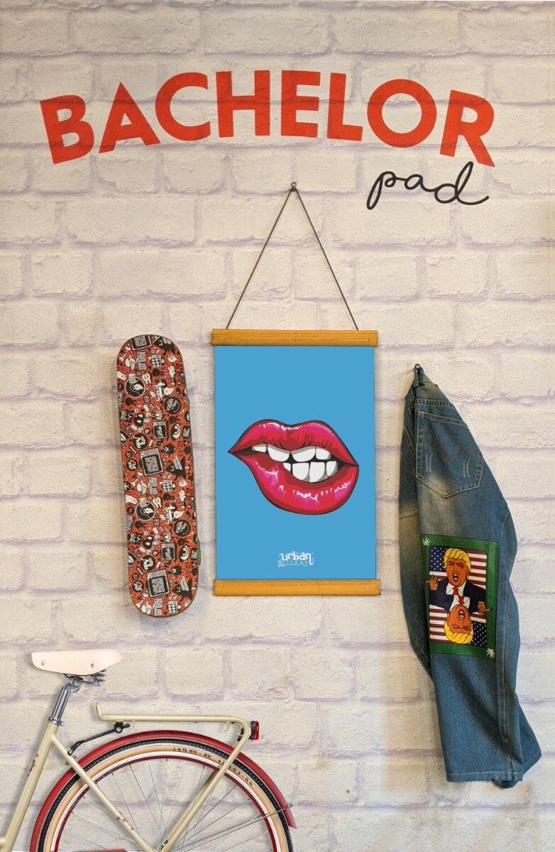 Seductive Lips Clip Canvas