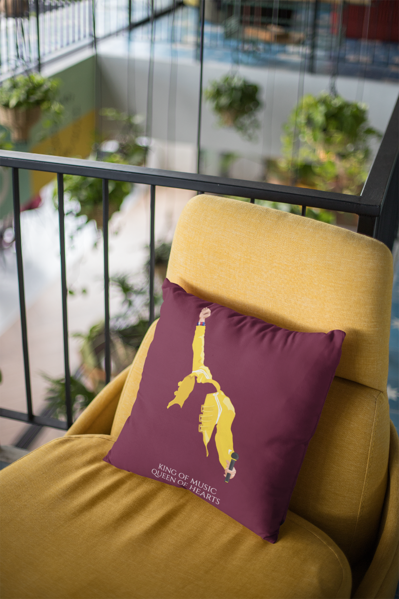 Freddie Mercury Zipper Cushion Cover