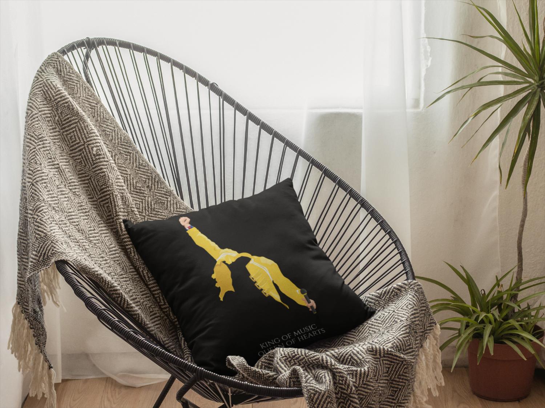 Freddie Mercury Black Zipper Cushion Cover