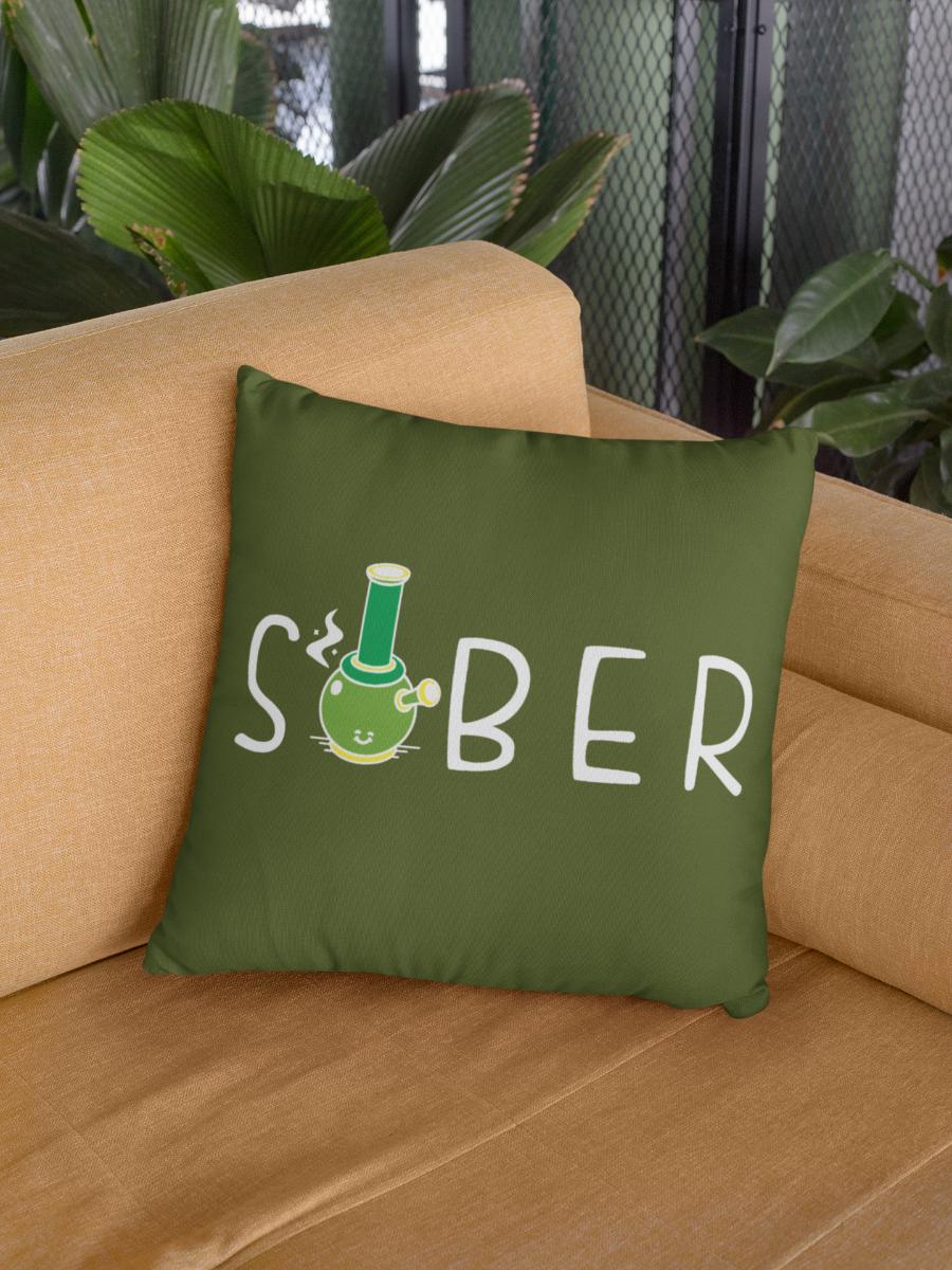 Sober Zipper Cushion Cover