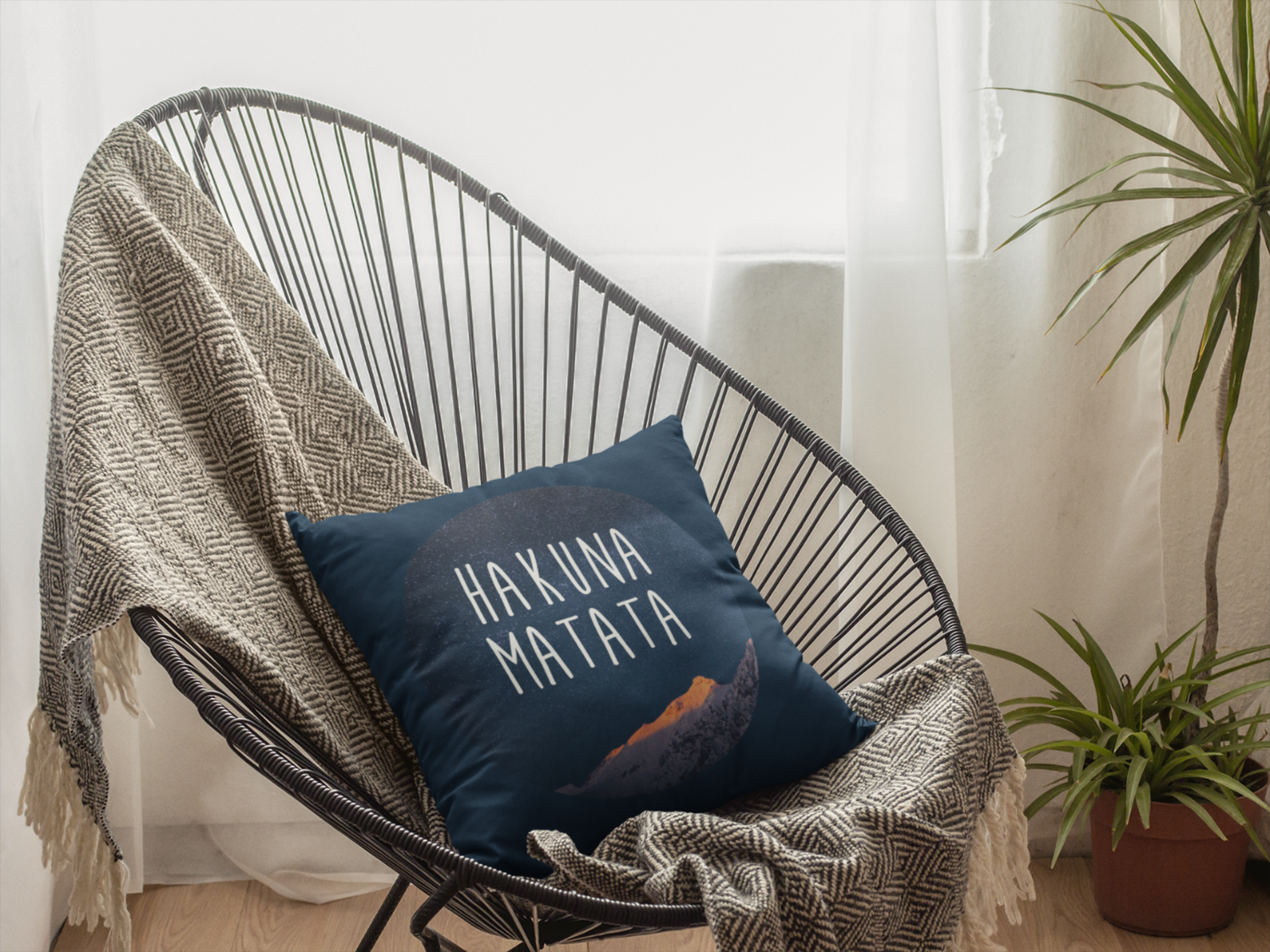 Hakuna Matata Zipper Cushion Cover