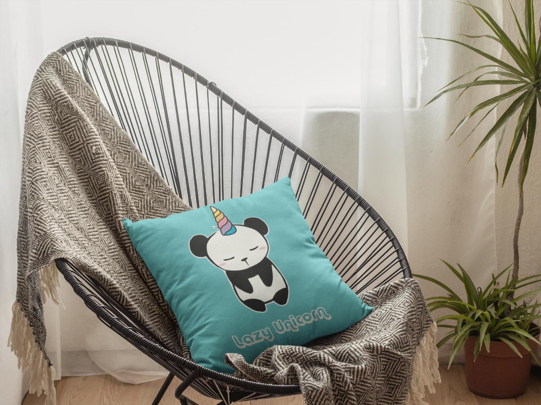 Lazy Unicorn Zipper Cushion Cover