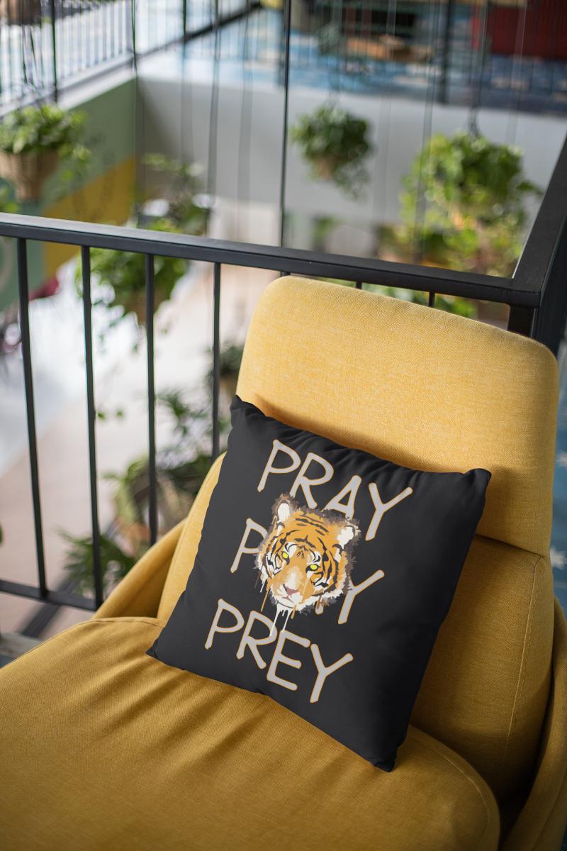Pray Prey Zipper Cushion Cover