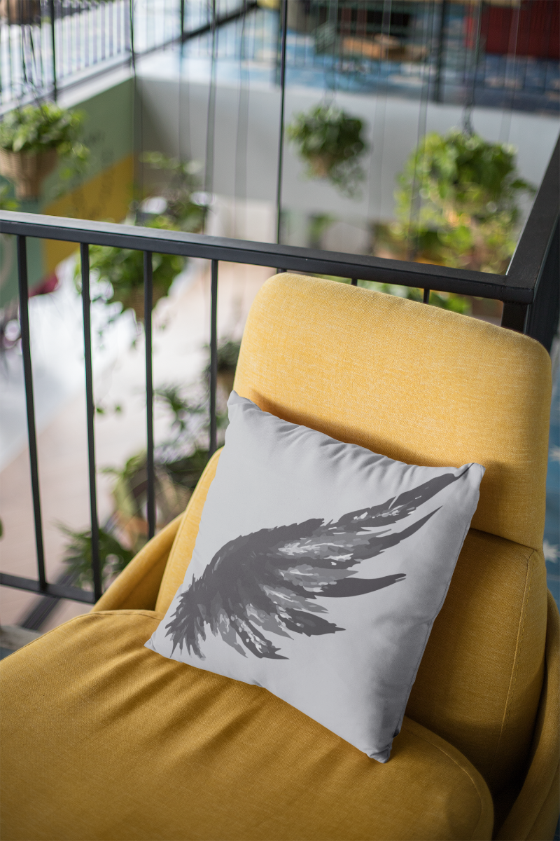 Winged Zipper Cushion Cover
