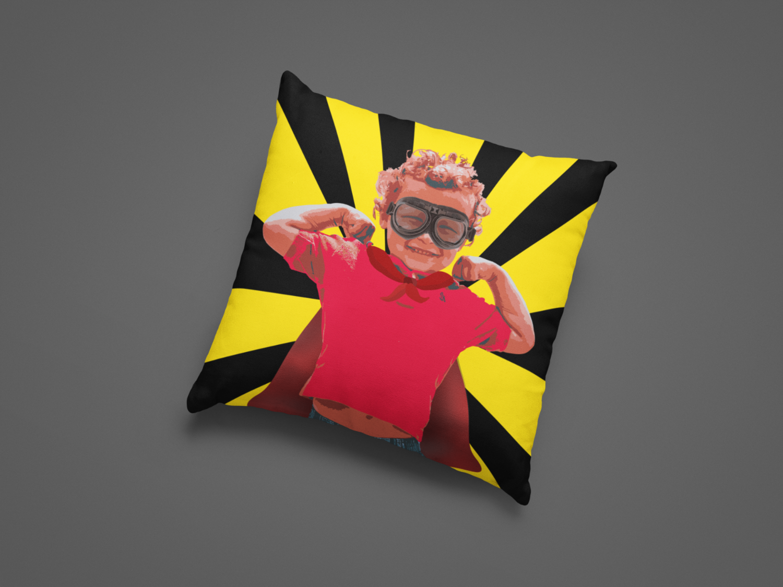 Superkid Zipper Cushion Cover