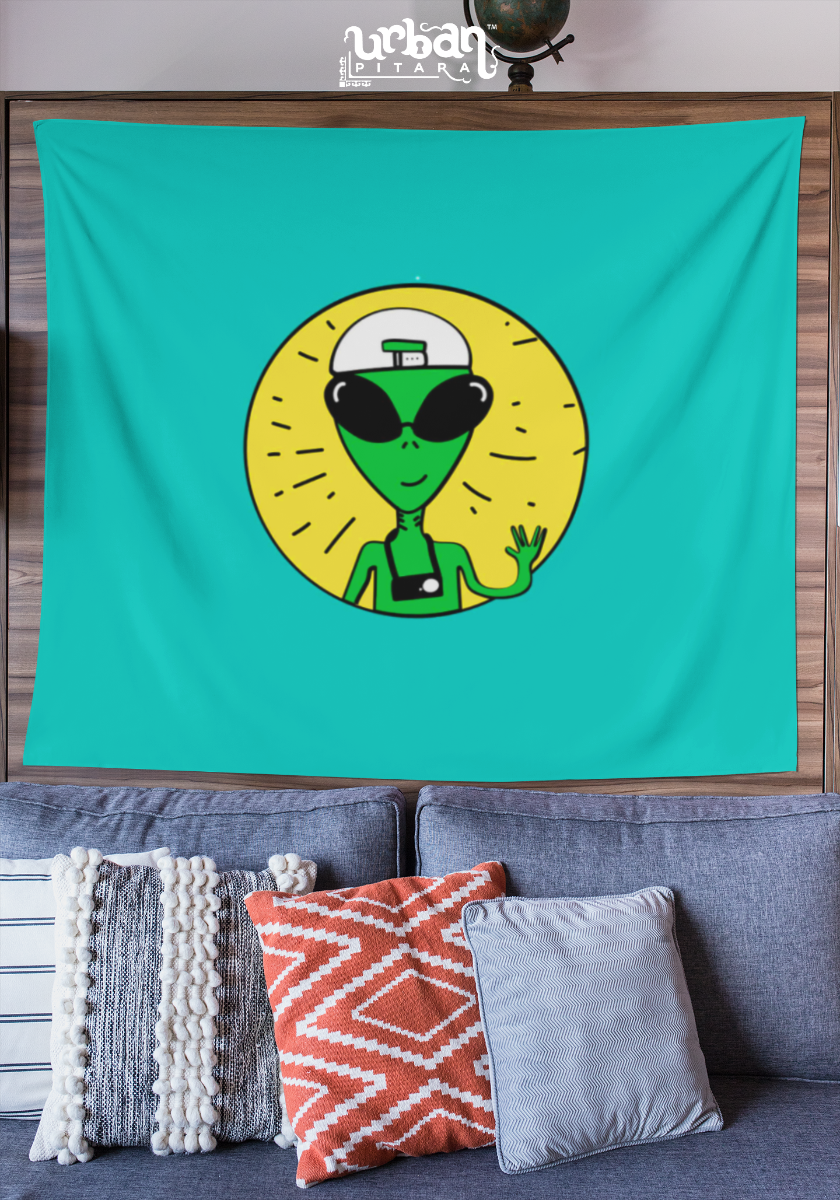 Backpacking Alien Flag