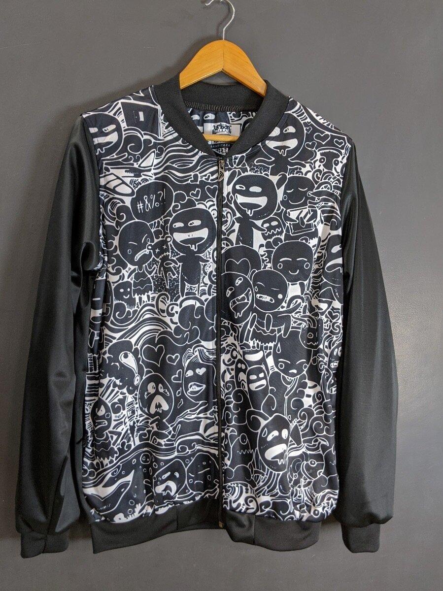 Black Anime Bomber Jacket