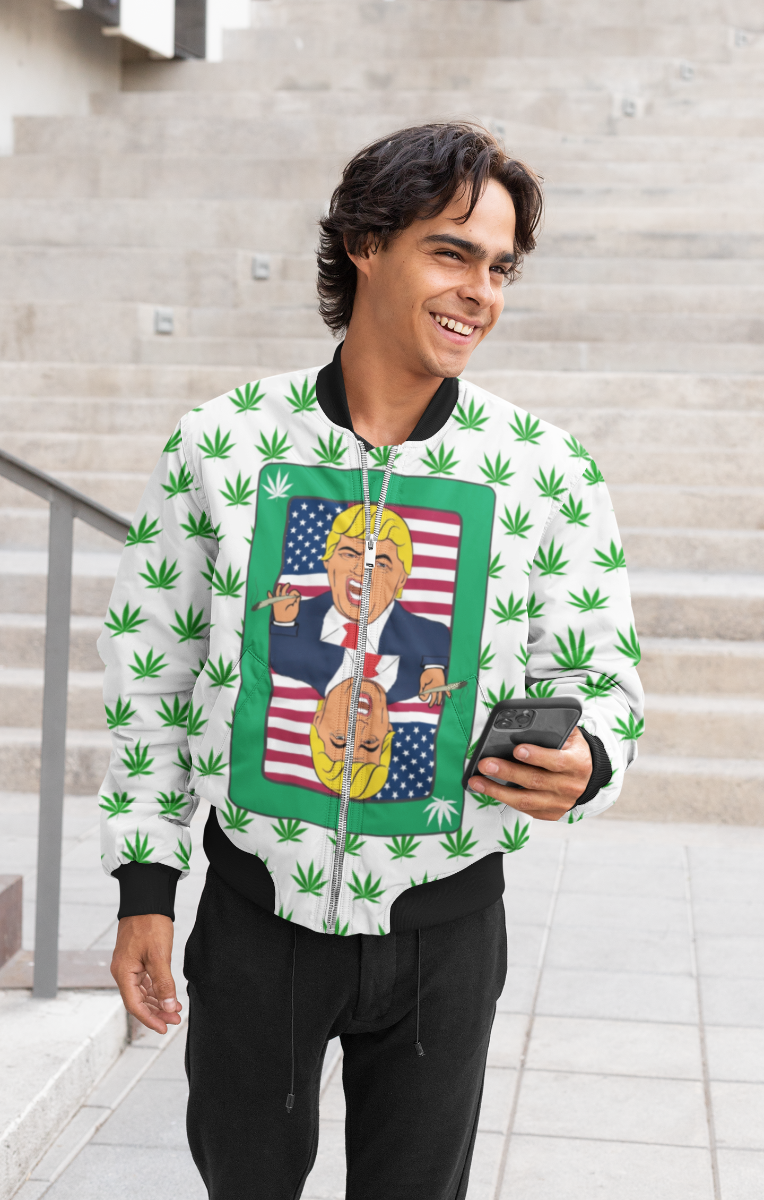 Trump Stoned Bomber Jacket