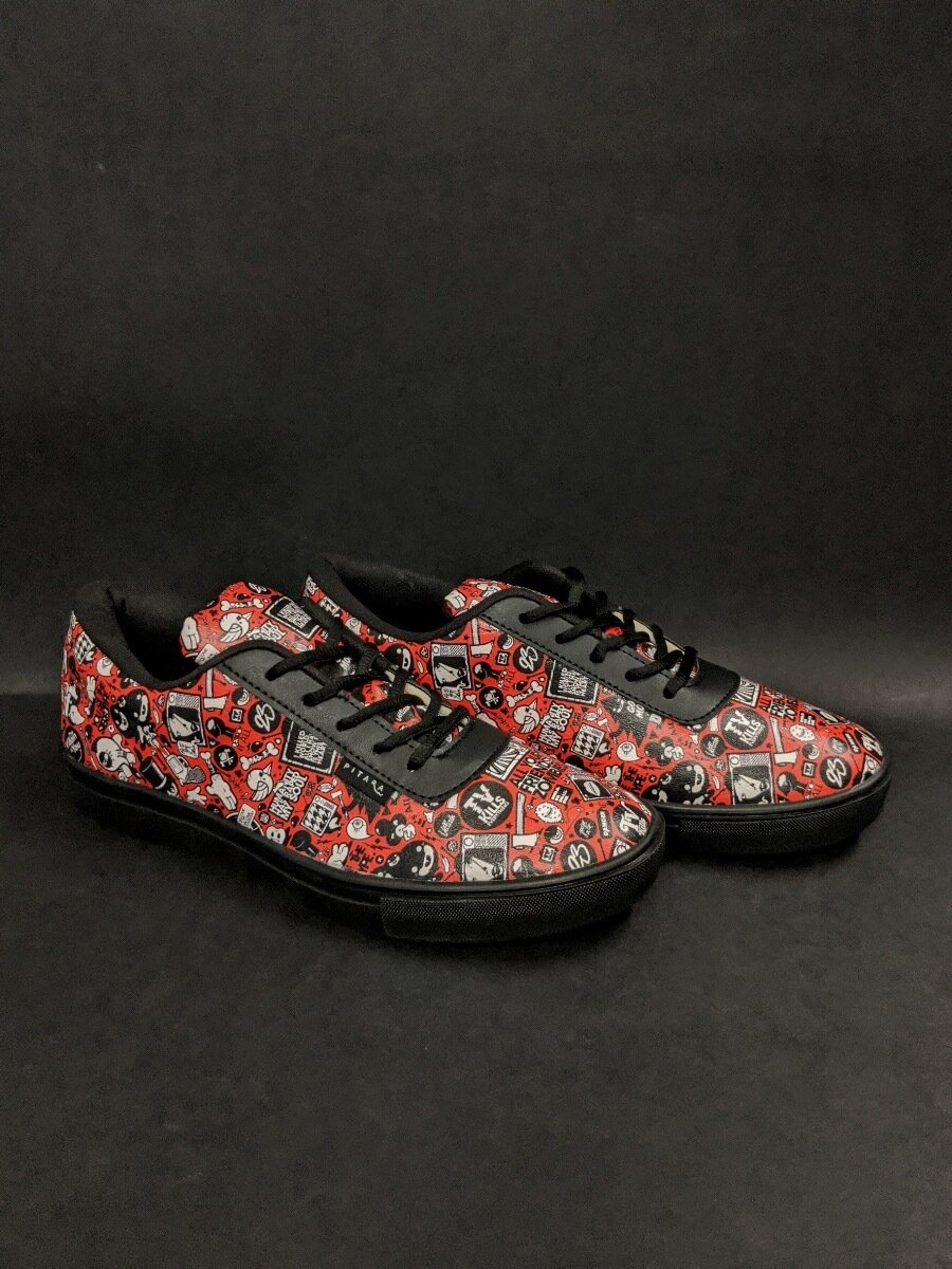Red Anime Printed Shoes
