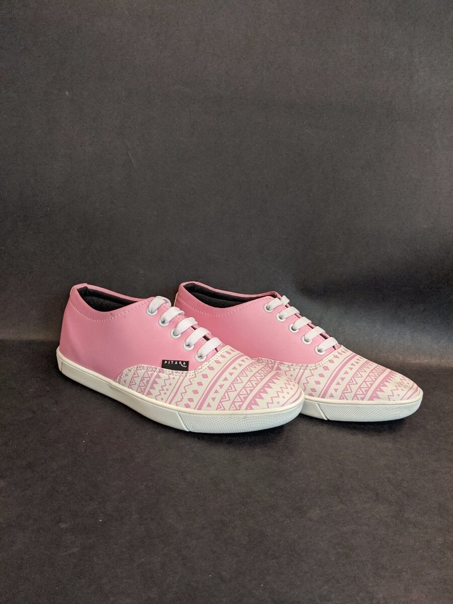 Pink Tribal Printed Shoes