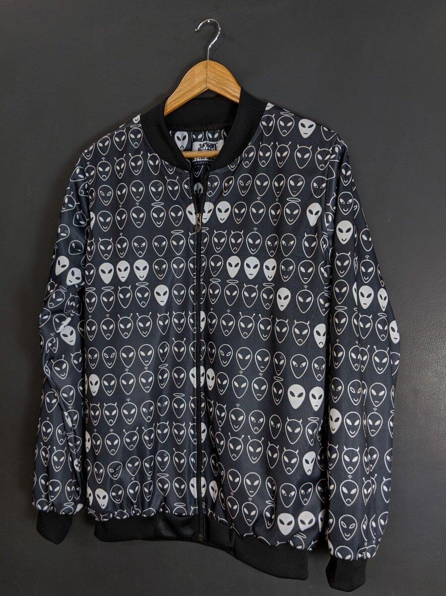 Alien AllOver Print Bomber Jacket