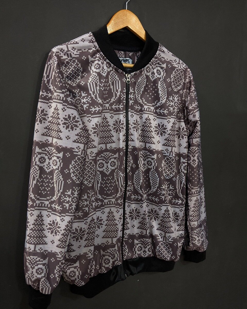 Winter Owl Bomber Jacket