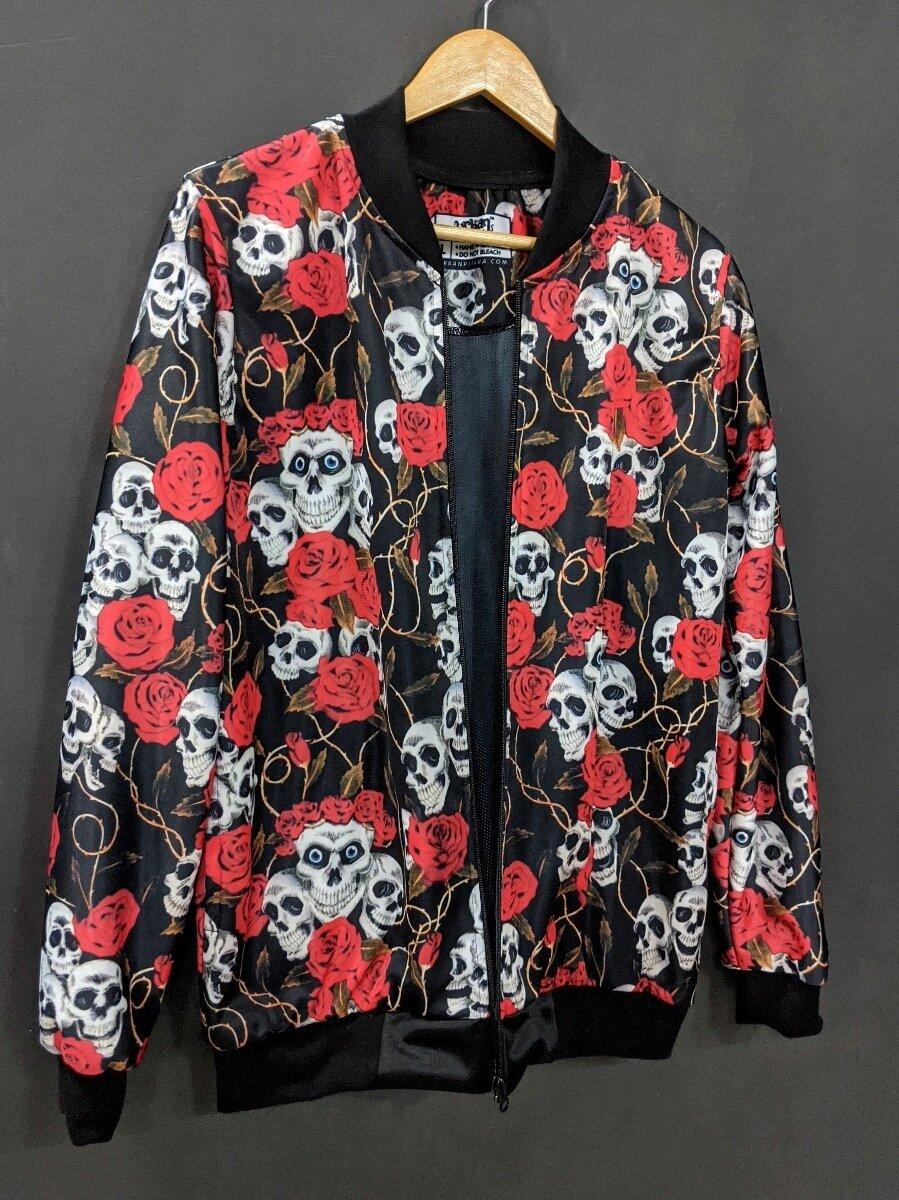 Skull Roses Bomber Jacket