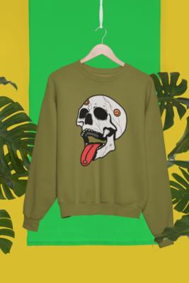 Trippy Skull Sweatshirt