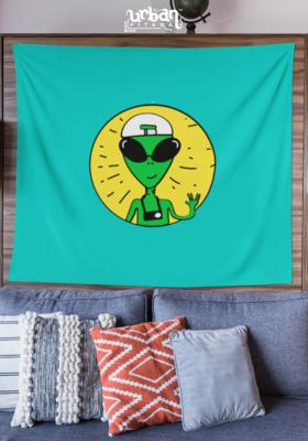 Backpacking Alien Flag