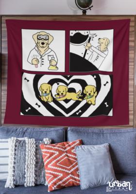 Lab Dog Maroon Flag