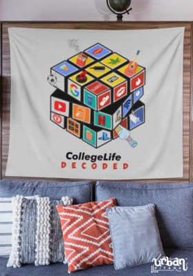 Rubik Cube College Life Flag