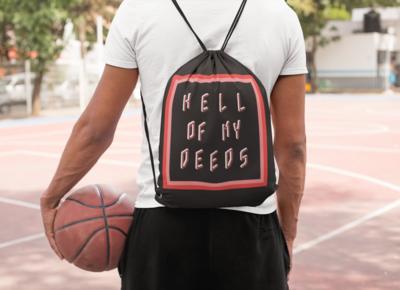 Hell Of My Deeds Drawstring Bag
