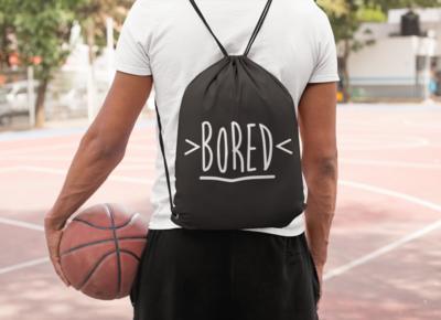 Bored Drawstring Bag
